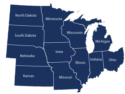 an overview of the midwestern us state of minnesota A region of the north-central united states around the great lakes and the upper mississippi valley it is generally considered to include ohio, indiana, illinois, michigan, wisconsin, minnesota, iowa, missouri, kansas, and nebraska.